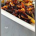 Legumes arc en ciel rôtis au four - verduras arco iris asados al horno