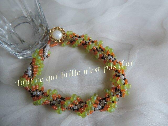 Bracelet spirale Rope vert orange02_07 2014