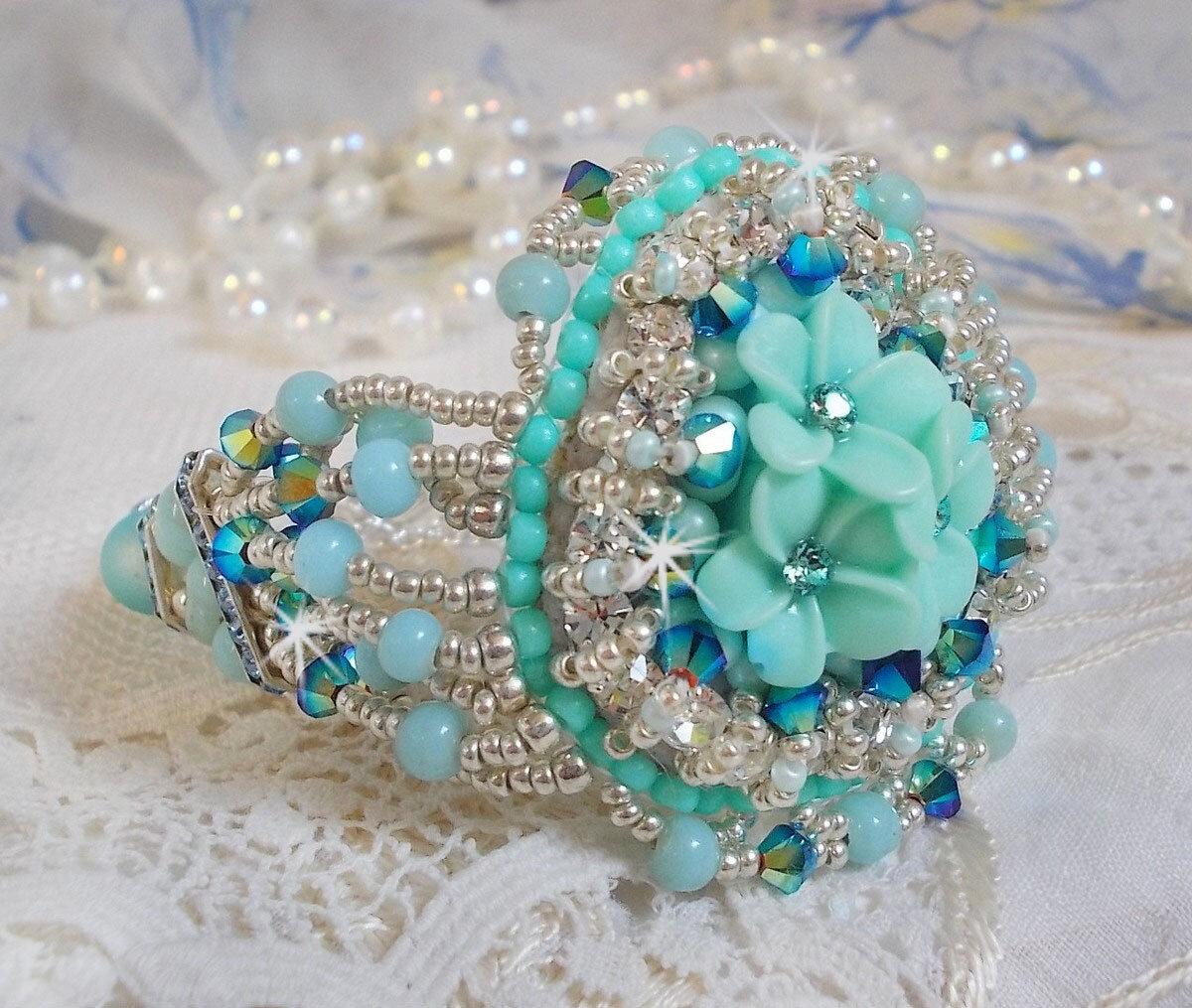 Bracelet Blue Flowers 2-1