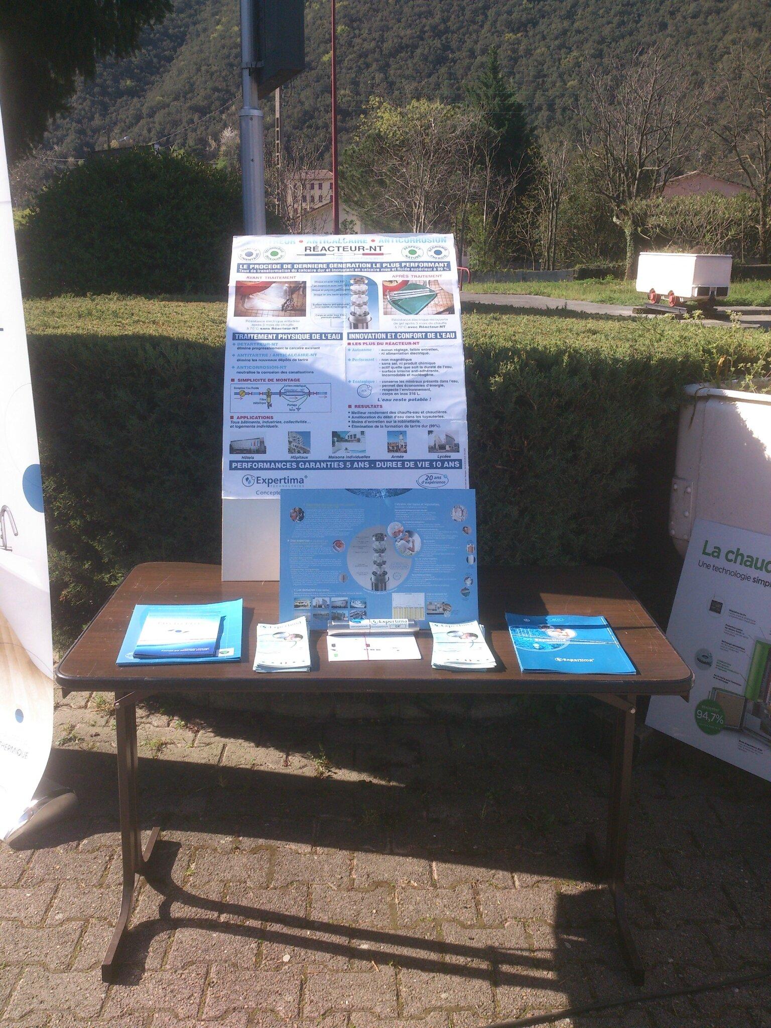 STAND EXPERTIMA, SALON DES ENERGIES RENOUVELABLES 2015, LES SALLES DU GARDON