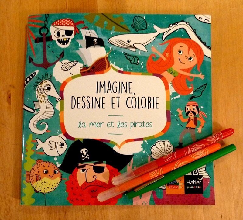 imagine dessine et colorie la mer et ses pirates - couverture