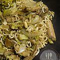 Sauté de nouilles au brocoli
