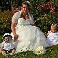pauline bouquet mariee original blanc anis tissu et perles