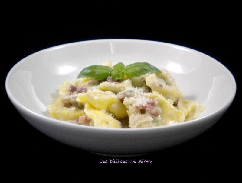 Tortellini aux lardons et champignons 2