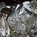 Mini cloche en verre craquelé