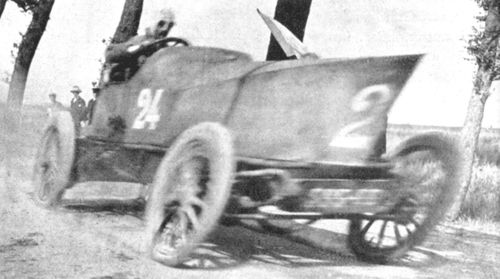 1904 ostend - louis rigolly (gobron-brillié 8-cyl) first car over 100mph