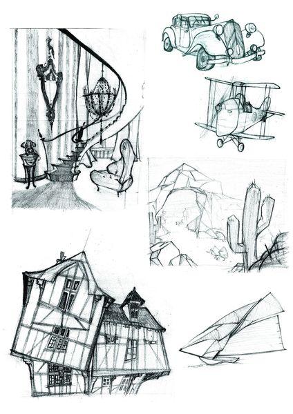 caricature objets