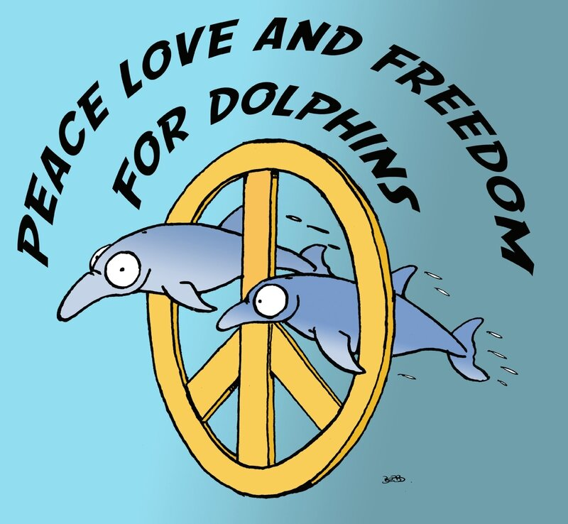 peace love for dolphins