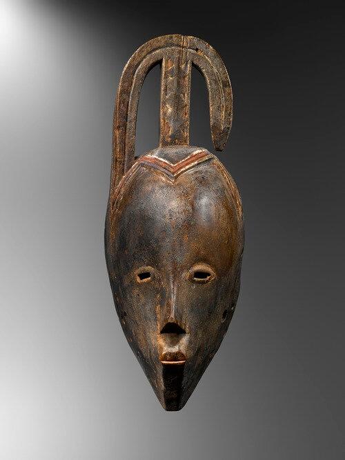 Masque rituel de type Gou, culture Gouro