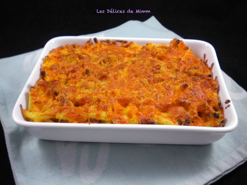 Mac and cheese aux lardons2