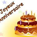 C'est mon anniversaire !!!!
