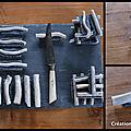 Montages porte-couteauxbois flotté