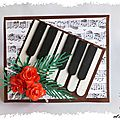 Carte kirigami pop-up : le piano