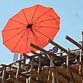 Thaïlande ouvrier sur échaffaudage