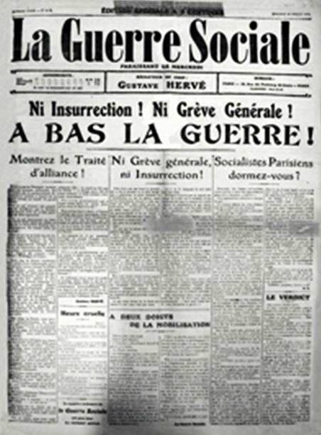 La guerre sociaale 29 juil 1914
