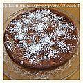 Gâteau mascarpone/poire/chocolat