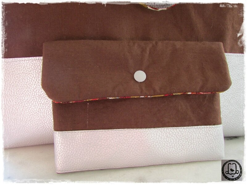 Lilou pour L - Cabas chocolat et sylver3