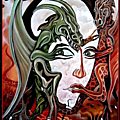 Femme et dragons ii.....visible à sens en ce moment...