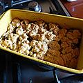 Crumble de courgettes au jambon