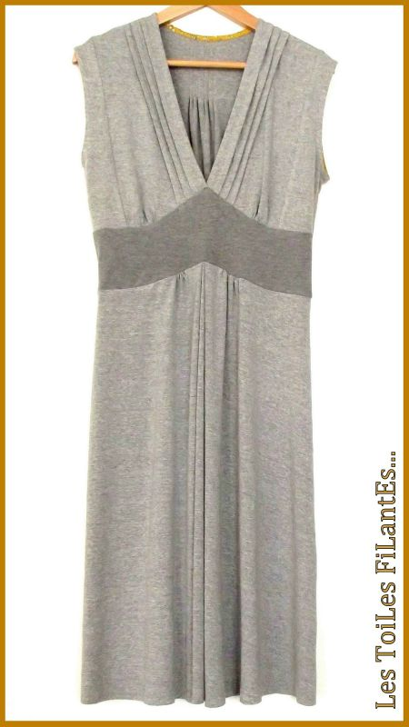 Robe burda jersey gris et capel moutarde10-2