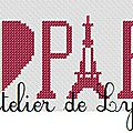Grille gratuite : i love paris