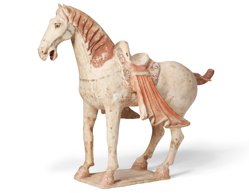painted pottery figure of a horse, Tang dynasty (AD 618-907)