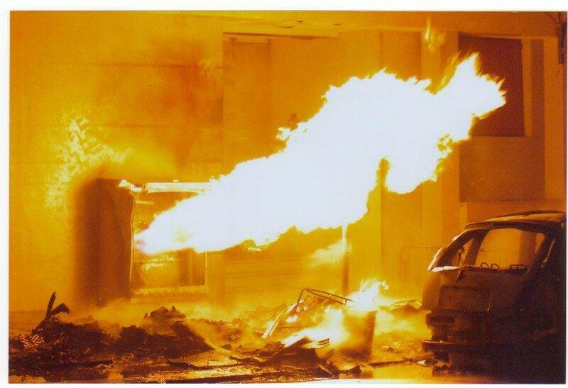Fuite de Gaz enflammée, Bourg la reine