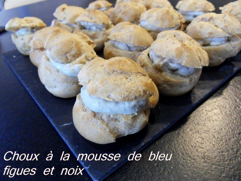 choux a la mousse de bleu figues et noix