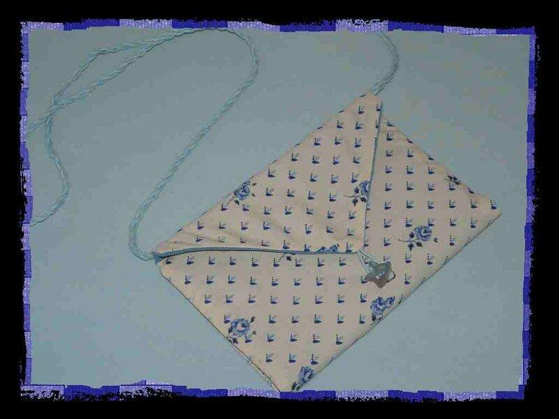Pochette-enveloppe sac Abricot&lavande
