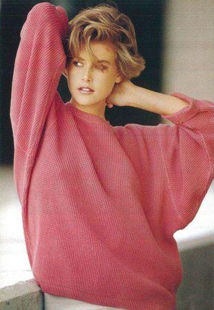 ALAIA Pull rose soutenu PE 1985