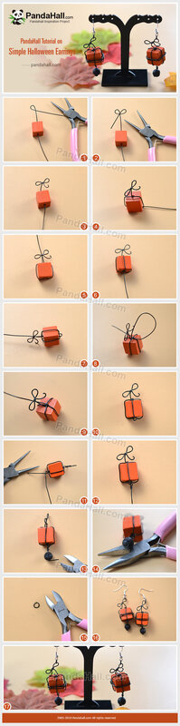 5-PandaHall-Tutorial-on-Simple-Halloween-Earrings
