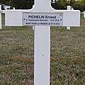 Pichelin ernest (argenton sur creuse) + 07/10/1918 saint soupplet (51)