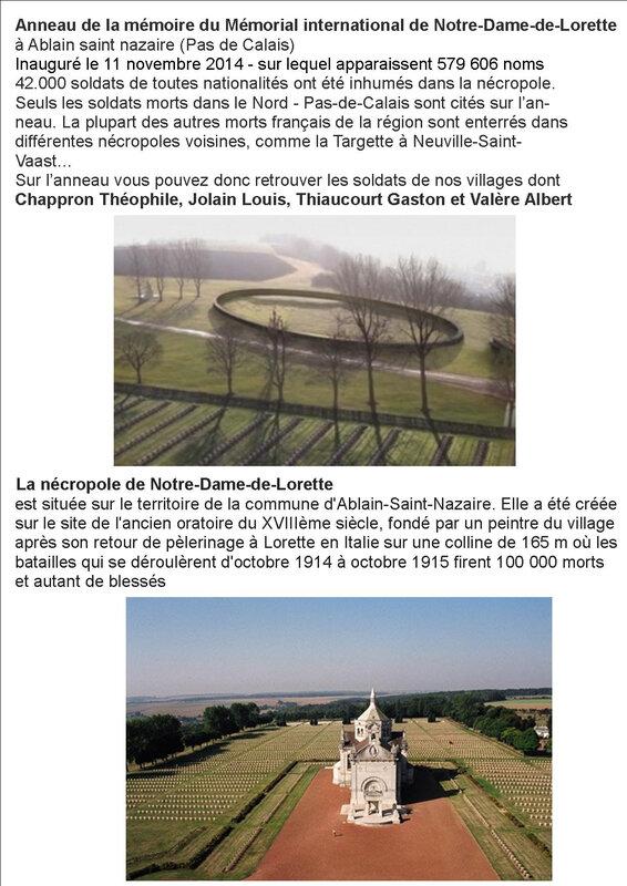 4 cunfin anneau de Mémoire Notre Dame de Lorette