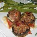 Pour la semaine du goût champignons farcis et cocos plats