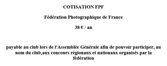 Cotisation FPF