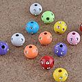 Lot de 30, 70 ou 100 perles acryliques 8 strass 8 , 10 ou 12 mm.( 3€ port compris)