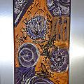le chardon-acryl 2020 - 35 X22 cm(n°154) cadre argent