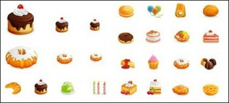 gateaux-de-style-occidental-icons-vector_421733