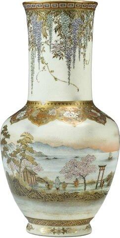 A large and fine Satsuma vase by Yabu Meizan, Meiji era (late 19th century)