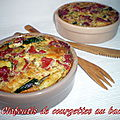 Clafoutis de courgettes au bacon