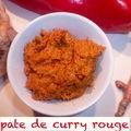 Les pates de curry maison : pate de curry rouge