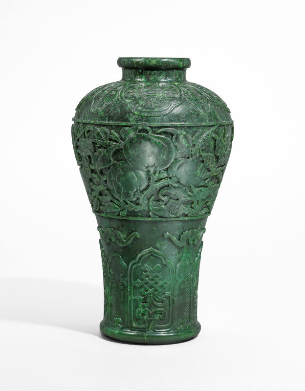 2020_HGK_18242_2853_000(a_rare_spinach_green_jade_peach_vase_meiping_qing_dynasty_18th_century)