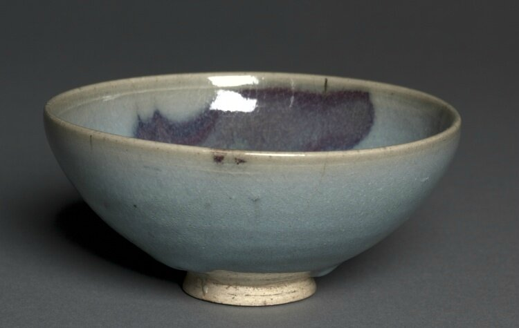 Bowl, Jun Ware, 1200s-1300s, Northern China, Jin dynasty-Yuan dynasty
