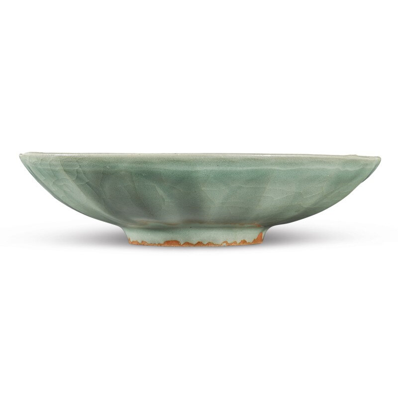 A 'Longquan' celadon-glazed 'lotus' dish, Southern Song dynasty