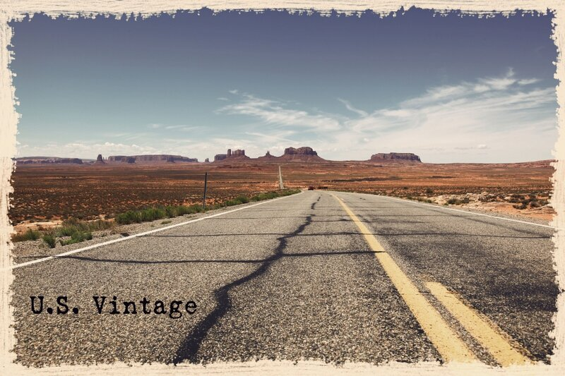 us vintage Road to monument valley