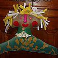 Cintre customisé dolls primitive