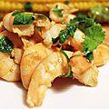Crevettes citron vert - coriandre