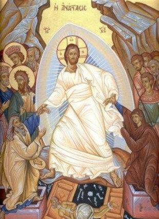 Résurrection, Jésus tire l'humanité