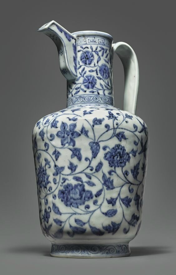 An Exceptionally Rare And Important Blue And White Ewer Xuande Mark