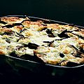 Gratin de pâtes aux aubergines dinde et mozzarella weight watchers